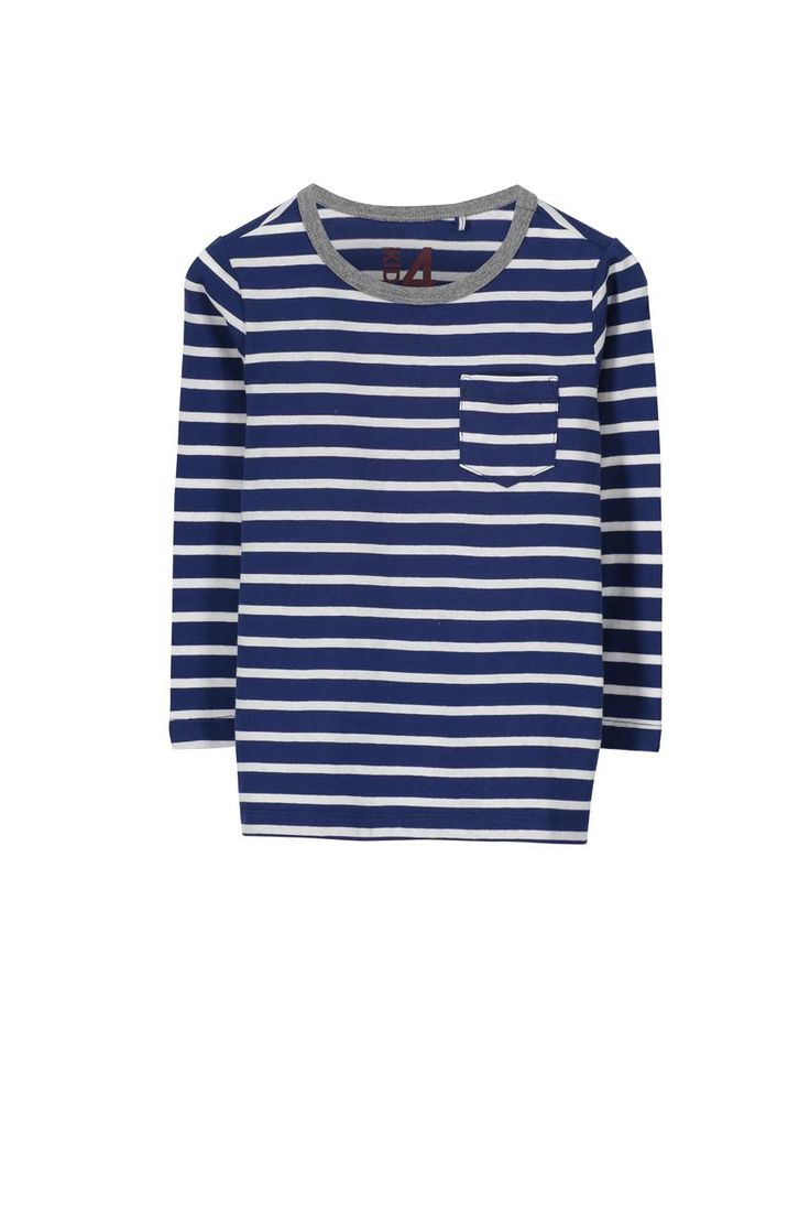 The Lance long sleeve stripe tee comes in a two colour stripe and features front pocket detail. A great basic to dress up or down for any occasion.