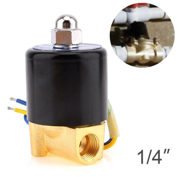 Solenoid Valve Dc 12v 1 4 3 8 3 4 1 Inch Npt N C Brass Normally Closed Electric Valve For Water Oil Air Diesel Gas Fuels Electricity Gas Valve