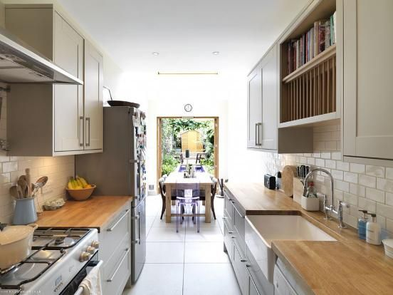 Great example of how to best utilise the space you have in for Kitchen ideas long narrow