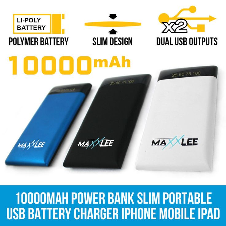 10000mAh Power Bank Slim Portable USB Battery Charger iPhone Mobile iPad | Elinz