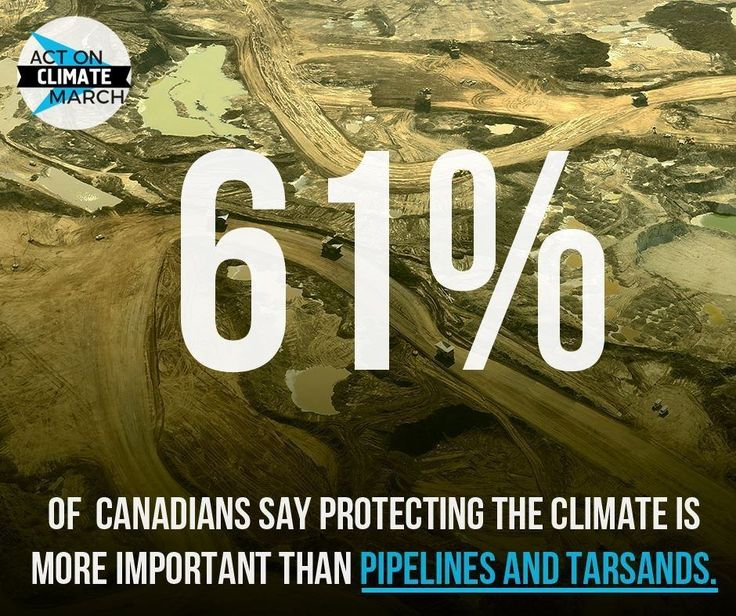 61% of Canadians say protecting the climate more important than pipelines and…