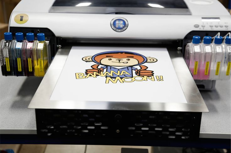 Banana Moon can print all kinds of designs Direct To Garment