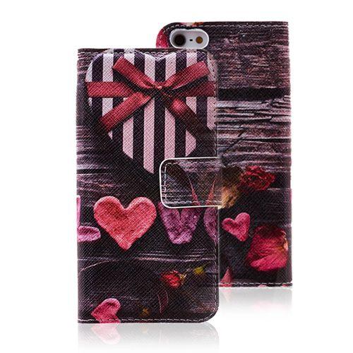 Love Vintage Case Heart Shaped Leather Wallet Case for iPhone 5 5S #leather #case #vintage #love #covers #wallet #iphone5 #cellz