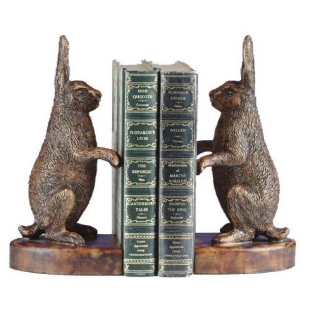 Rabbits Standing Up Bookends