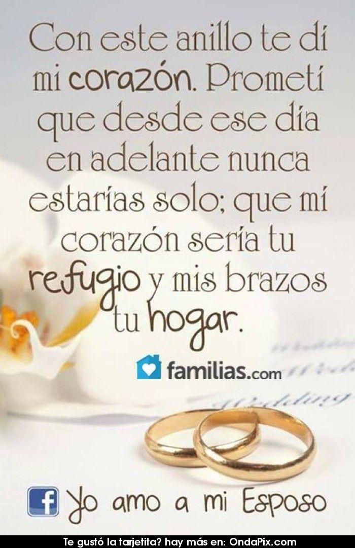 Con este anillo te di mi corazón
