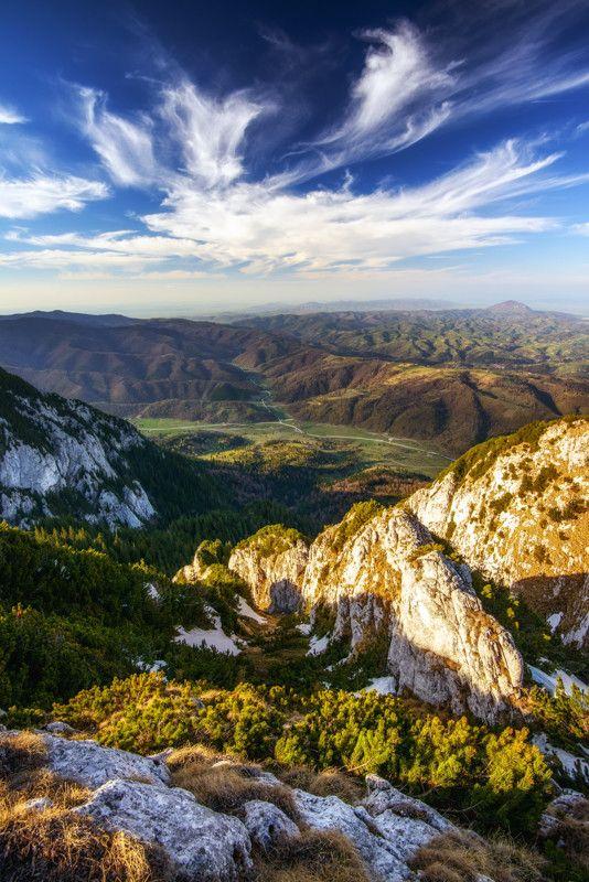 View From Piatra Craiului Over Poiana Marului, Romania, www.romaniasfriends.com