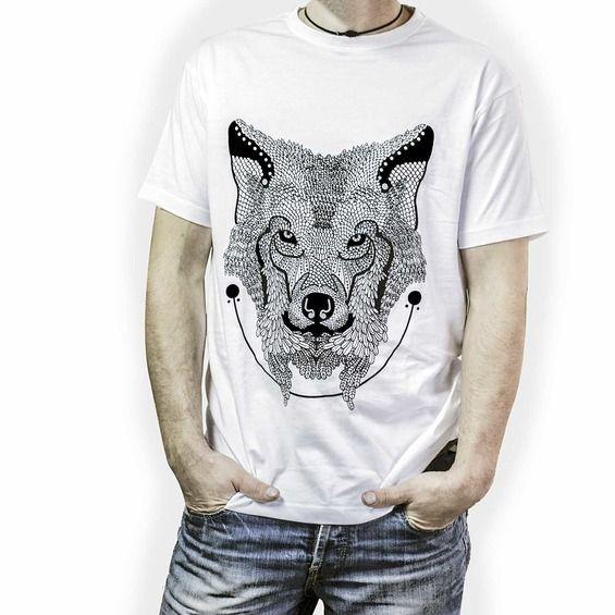 Koszulka Męska Wilk - Malinowe Cacko
