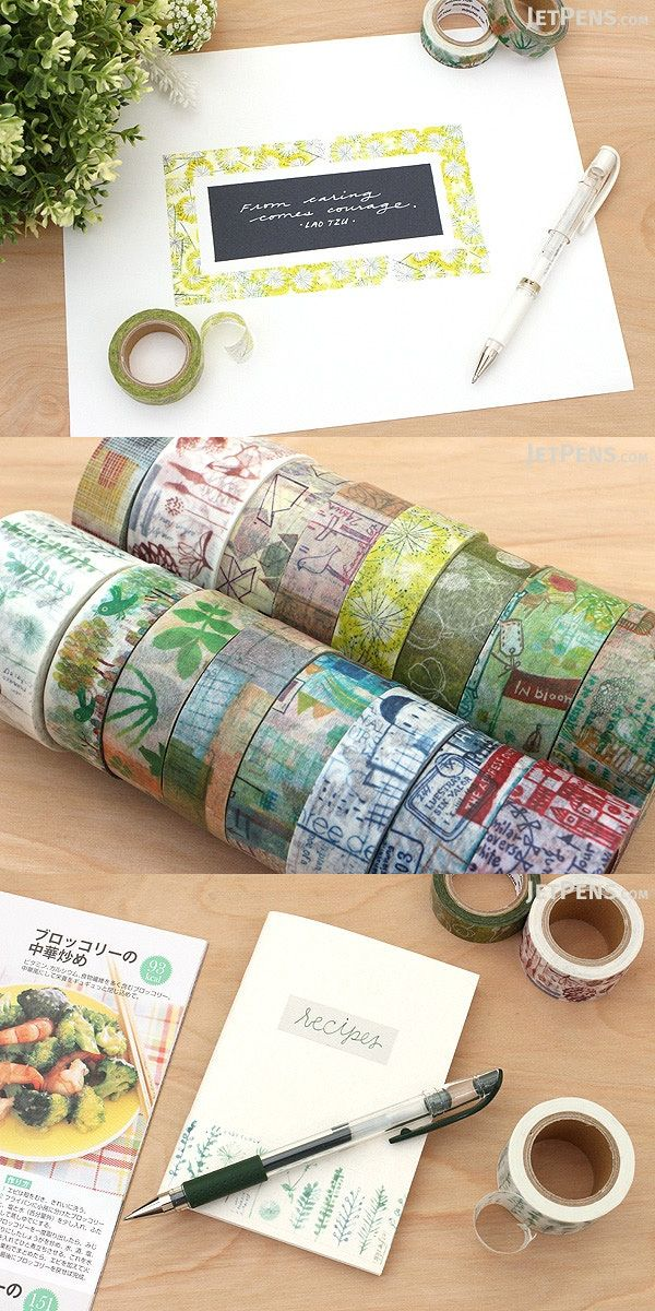 A collaboration between the popular Taiwanese stationery brand Little Path and the Asian rubber stamping company Chamilgarden, this washi tape features a colorful print based on rubber stamp patterns.