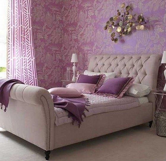 Фиолетовый_цвет в интерьере спальни