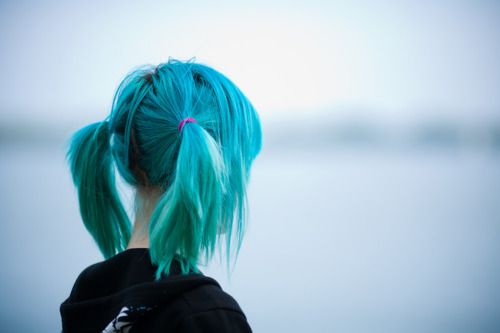 Cute color. Wish I could rock the smurf hair.