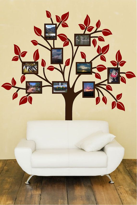 Family Tree Decal With Photo Frames Sold On Etsy But Could Find