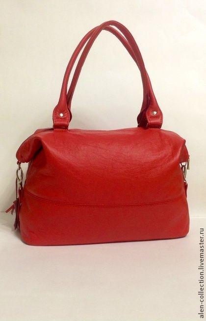 Сумка из натуральной кожи(Арт.S-8). Женская сумка из натуральной итальянской  кожи.Модная и стильная модель сумочки на каждый день!     Достаточно вместительная и удобная!Сумочку можно носить в двух положениях-в раскрытом состоянии и закрытом,когда верх…