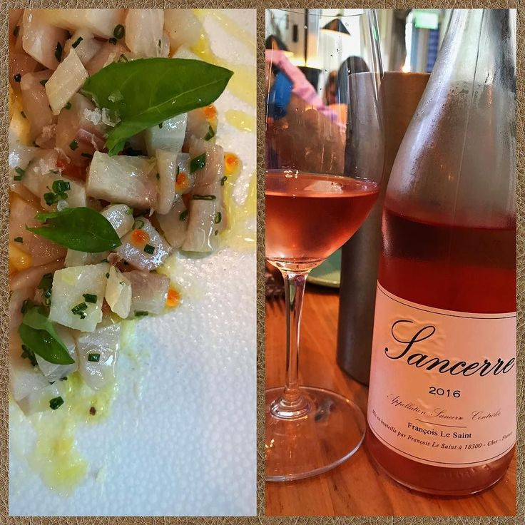 Theres a new Sancerre in town- and its #organic and #biodynamic -ly farmed. The #rosé pairs perfectly with this #cobia #tartare . #wine #wein #wijn #vin #vino #vinho #stceciliaatl #红酒 #ワイン #вино #κρασί #winelover #winelovers #hearthealthy #yeswayrose #alldayrose #sancerre @sourgrapeswine @stceciliaatl #winetasting #winestagram #instawine #somm #sommelier #cheflife
