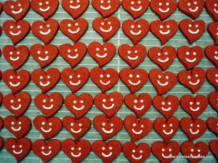 Galletas corazón sonriente
