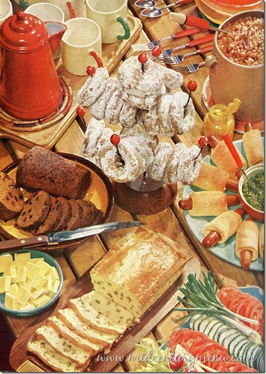 Betty Crocker Picture Cookbook - 1956 Love the way they displayed food back then - so creative!