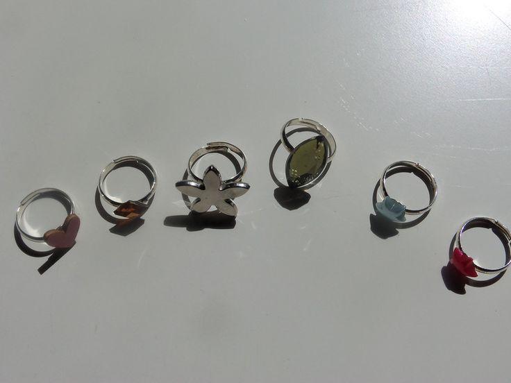Ringen - Ring met faux stenen  - Een uniek product van Its-a-cusy-life op DaWanda
