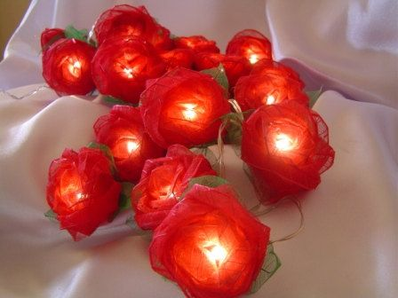 Run red fairy lights around the room to enhance the bling in your Bollywood party.