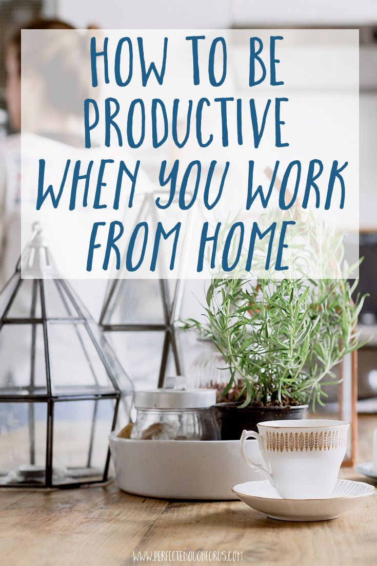 The ability to work from home is something that so many of us aspire to, but staying productive can be a challenge. Here's some tips to make it work for you