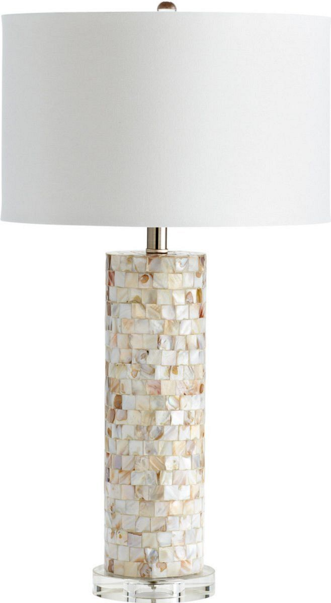 0 023335west palm 1 light table lamp mother of pearl