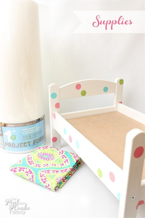 This is a great diy on how to make a Doll Bed Mattress that is sized to fit any size bed. Easy and inexpensive. Fun summer sewing project.