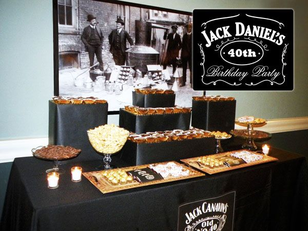 Una fiesta 40 cumpleaños inspirada en Jack Daniels / A Jack Daniels-inspired 40th birthday party