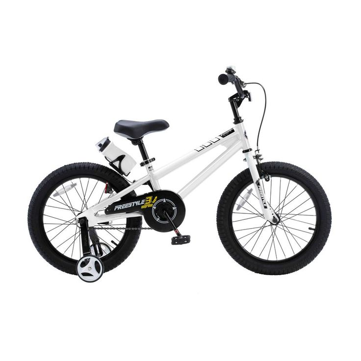 Freestyle BMX Kid's Bike, Boy's Bikes and Girl's Bikes with Training Wheels, 18 in. Wheels in White, Whites
