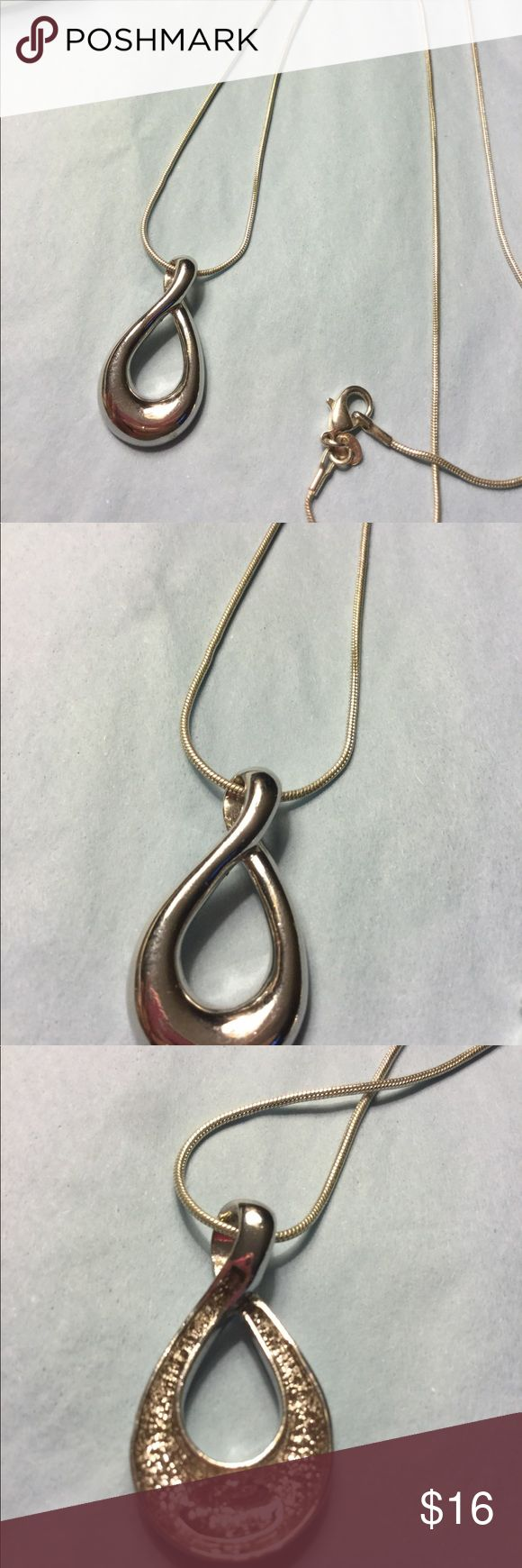 Lia Sophia pendant with sterling silver necklace Lia Sophia pendant silver with sterling silver snake chain NECKLACE IS NOT LIA SOPHIA NWOT Lia Sophia Jewelry Necklaces
