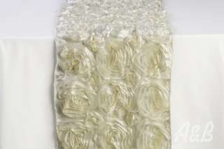 Ivory Rose Table Runner