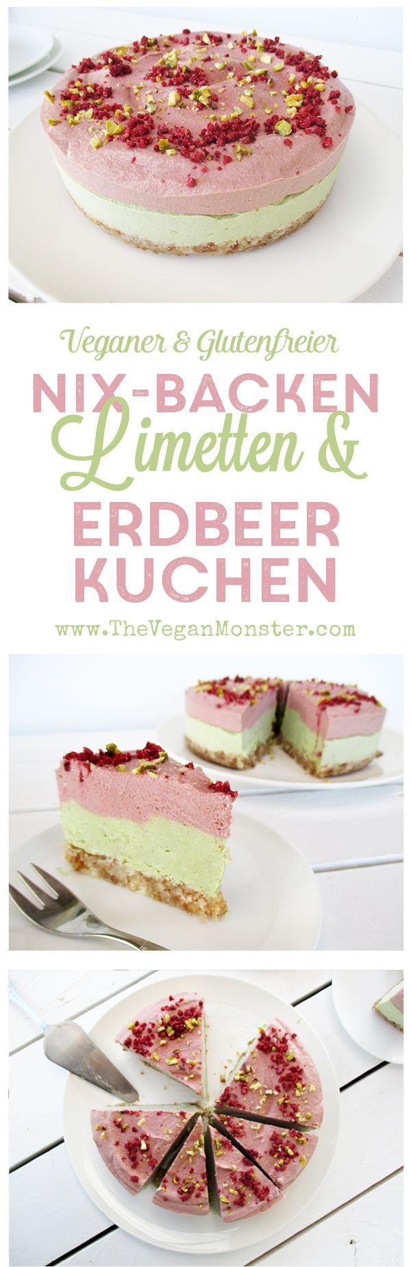 Nix Backen Rohköstlicher Veganer Glutenfreier Eifreier Milchfreier Limetten Erdbeer Kuchen Rezept