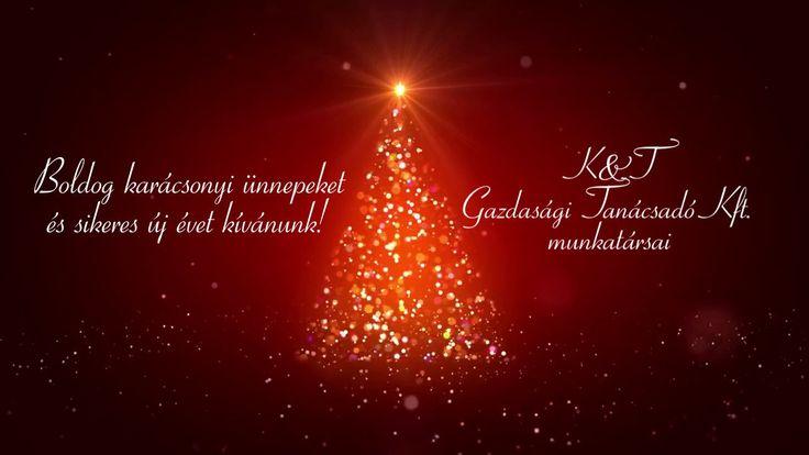 Karácsonyi üdvözlőlap - K&T Gazdasági Tanácsadó