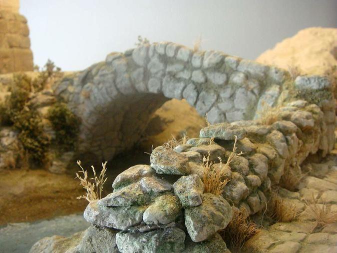 Foro de Belenismo - Arquitectura y paisaje -> Proceso de construcción e inicio de pintado.