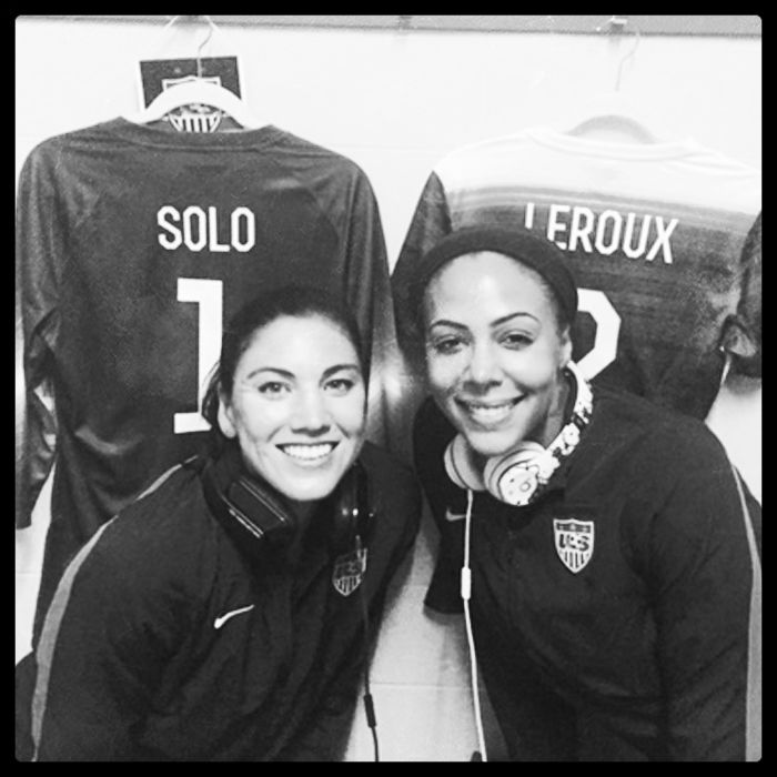 Hope Solo and Sydney Leroux. (Twitter)