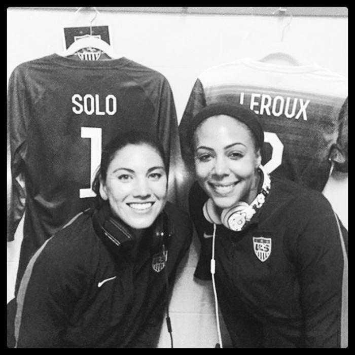 Hope Solo and Sydney Leroux. (Twitter)