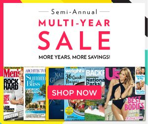 HOT MAGAZINE SALE!! Multi-Year Subscription Sale! Check out all your favorite magazines! Lots of gift ideas! Sports Illustrated, Weight Watchers, Martha Stewart and more!   Click the link below to get all of the details ► http://www.thecouponingcouple.com/discount-mags-multi-year-sale-save-more-on-longer-subscriptions/  #Coupons #Couponing #CouponCommunity  Visit us at http://www.thecouponingcouple.com for more great posts!
