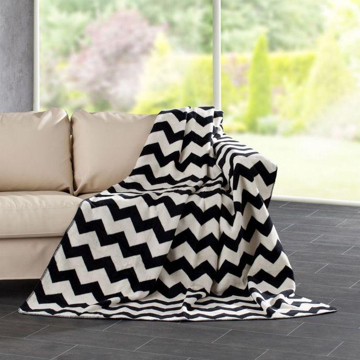 Deka Cotton Cloud 150x200cm Zigzag, 150x200cm - Dekoria