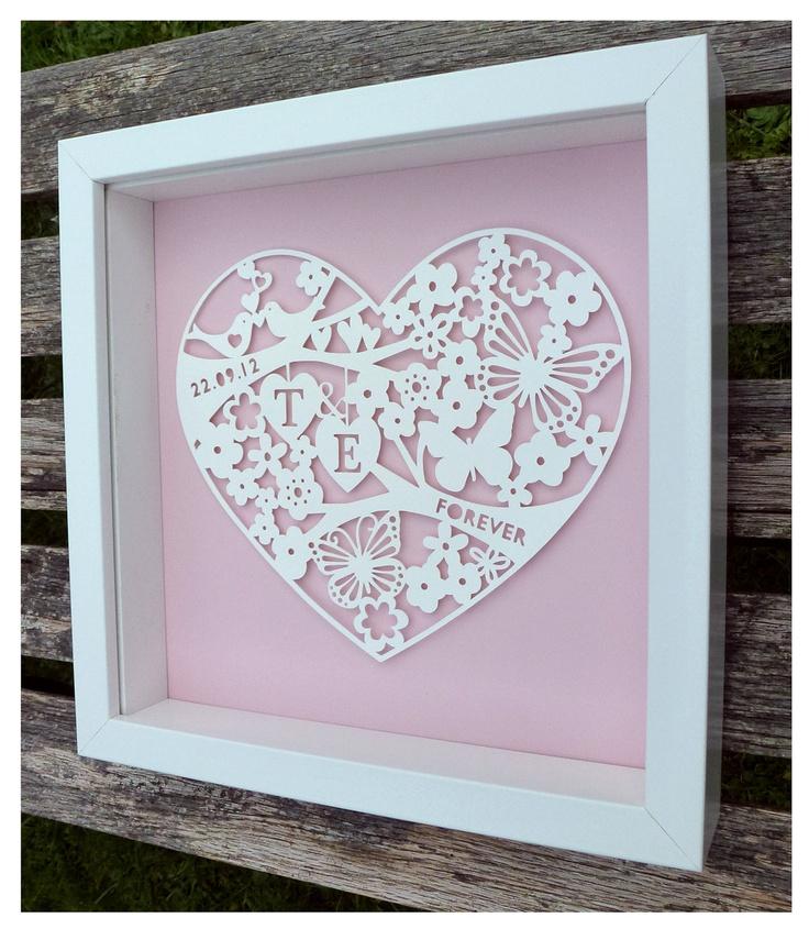 Bespoke Paper Cut Wedding Frames