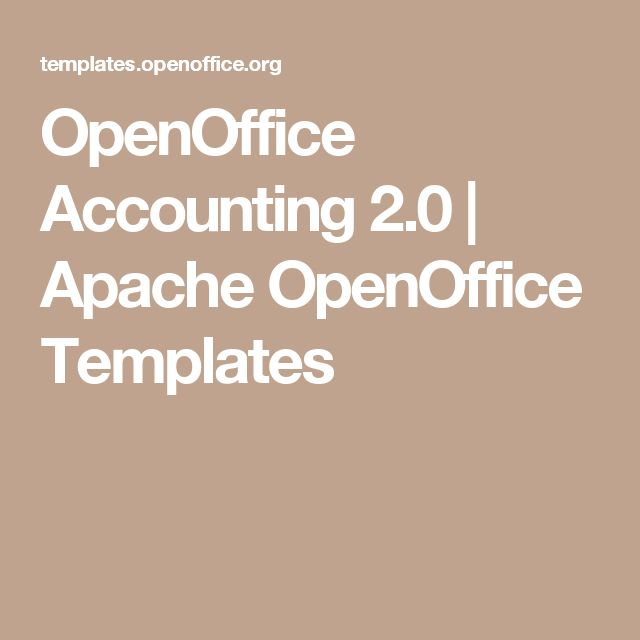 OpenOffice Accounting 2.0 | Apache OpenOffice Templates