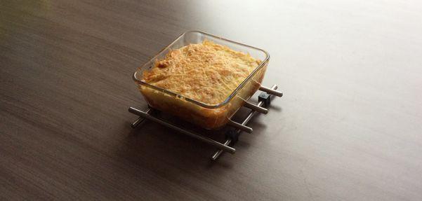 Ovenschotel met gehakt en tomatencreme
