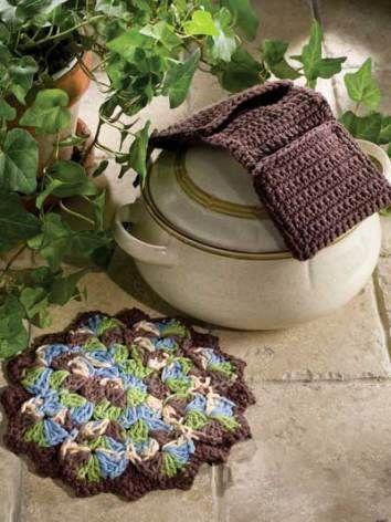 Hot Pot Mates free crochet patterns - 10 Free Crochet Hotpad Potholder Patterns