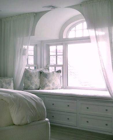 Bedroom Window Seat Finishing Touches Pinterest