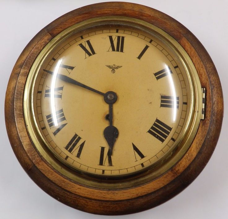 Vintage German Friedrich Mauthe Large Round Wall Clock ...