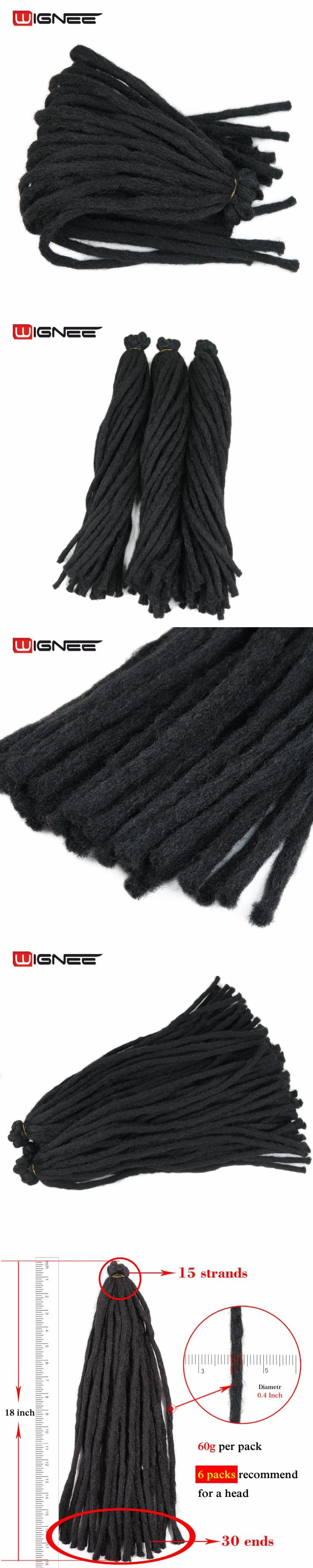 Wignee Thick Faux Locs Hair Extensions For Black Women/Men Heat Resistant Synthetic Crochet Twist Braiding Fake Hair Bundles