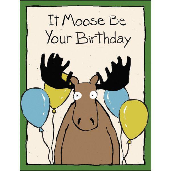 для открытка с днем рождения про лося внешний вид