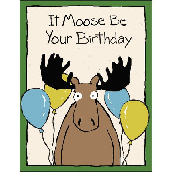 It Moose Be Your Birthday Greeting Card 2 37 Found On