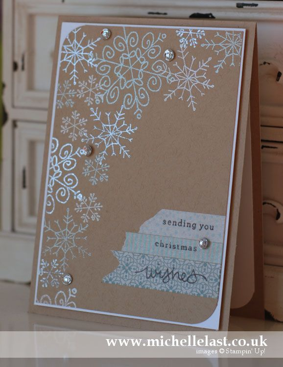 #EndlessWishes Snowflake stamps from Stampin' up! #SU #HolidayCatalog