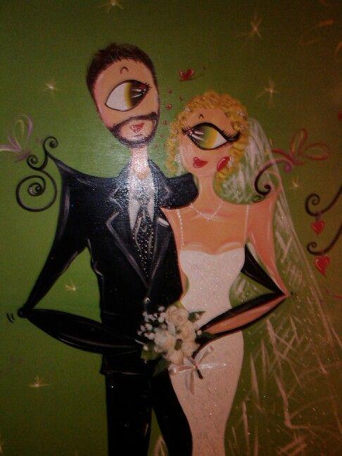 Wedding live art..