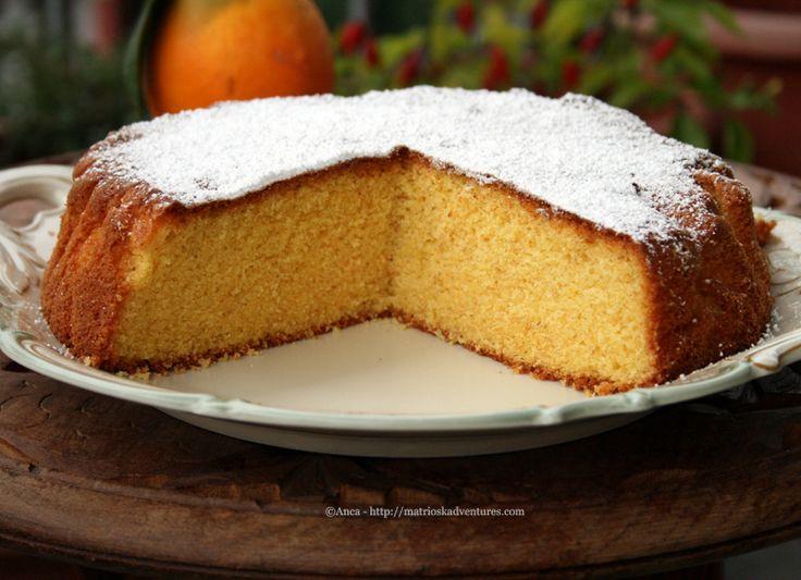 Orange polenta cake -torta di mais e arancehttp://matrioskadventures.com/2014/12/12/orange-polenta-cake-torta-di-mais-e-arance-prajitura-cu-malai-si-portocale/
