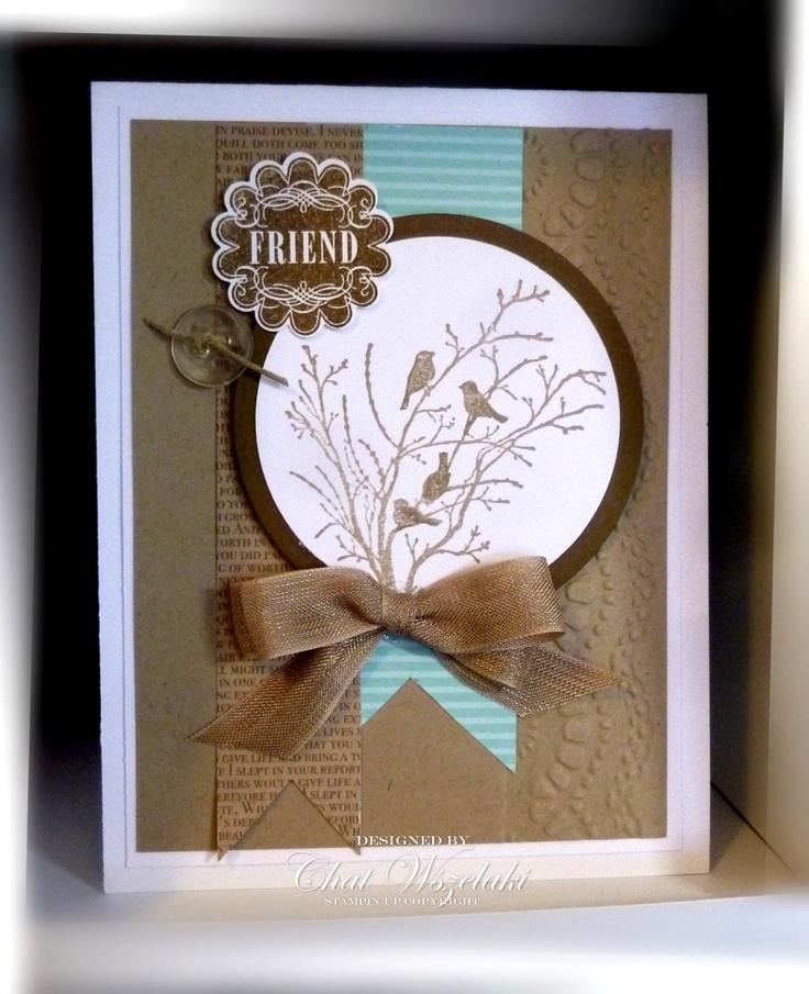 Friend Card by nitestamper on Etsy