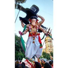 New pin for Ganpati Festival 2015 is created by by devendrapai with 22 feet tall Bahubali idol spotted at Mumbai Central enroute Gigaum Chowpatty  #Bahubali #Ganesha #Chowpatty #Girgaum #girgaumchowpatty #Visarjan #Visarjan2015 #MumbaiCentral #GanpatiVisarjan #Ganpati #GanpatiBappa #Bappa #bappamorya #ShivaLinga #Shiva #ShivLinga #ShivLing #ganeshchaturthi #Ananthchaturdashi #Trishul #Trident #Ganeshji #Igers_Mumbai #WeAreMumbai #MumbaiGram