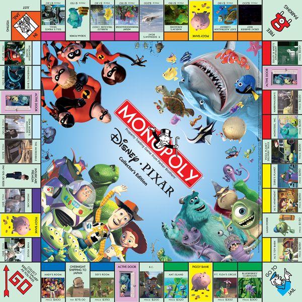 MONOPOLY: Disney•Pixar Collector's Edition | USAopoly.  Looks like fun!